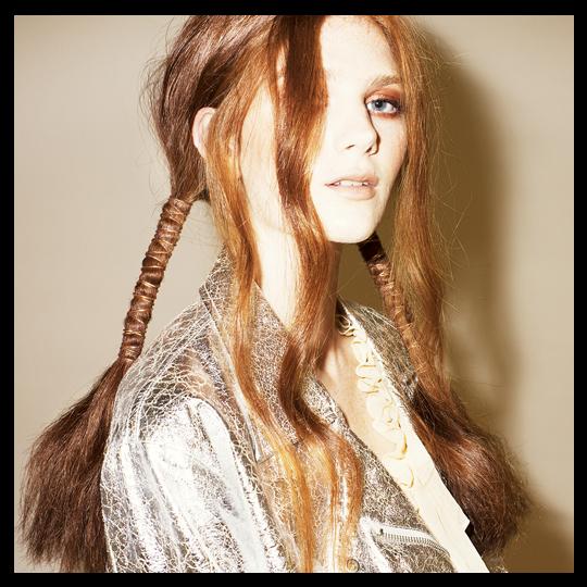 Embellished ponytails by James Earnshaw for Cloud Nine