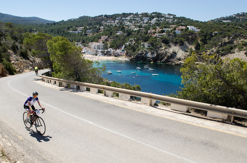John Frieda leads Round the Island Cycle Challenge, Ibiza 2015