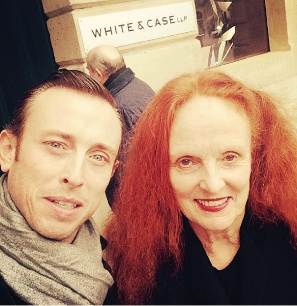 with Grace Coddington, creative director of American Vogue