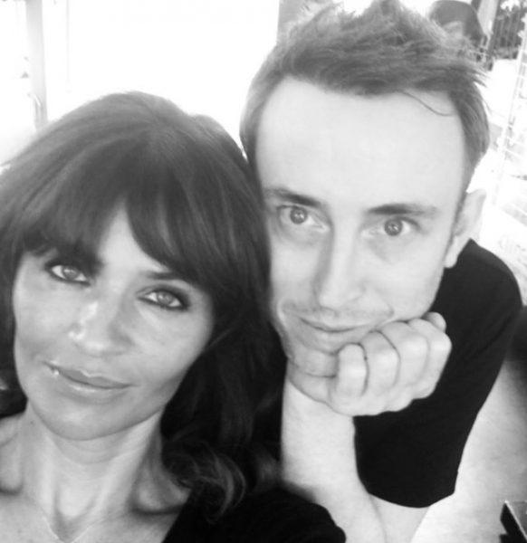 with Helena Christensen, model