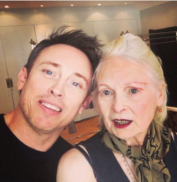 with Vivienne Westwood, designer