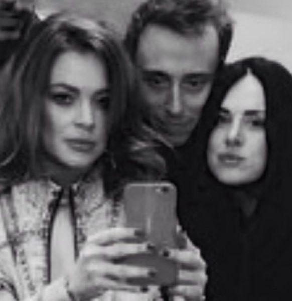with Lindsay Lohan, actress