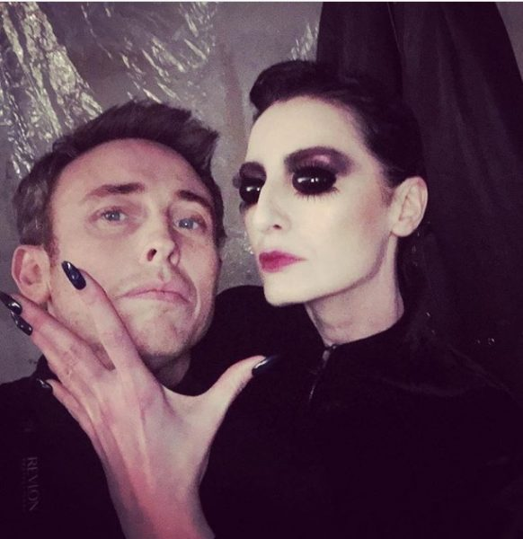 with Erin O'Connor, model