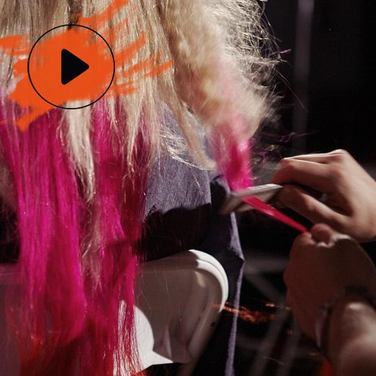 Syd Hayes' colour pop braid