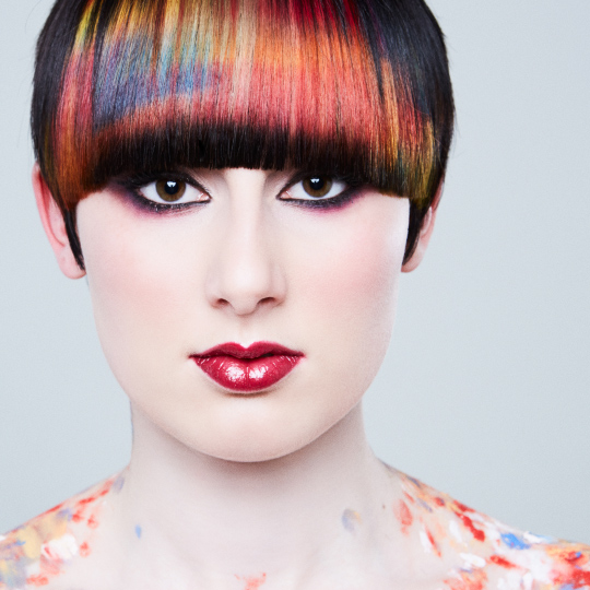 Why you should try sponging hair colour