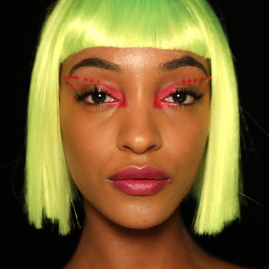 Neon wigs are the future at Jeremy Scott