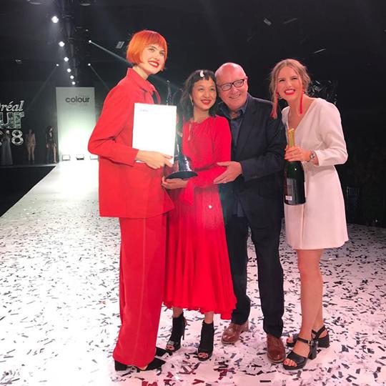Red hot! Trevor Sorbie Manchester crowned L'Oréal Colour Trophy 2018 champions