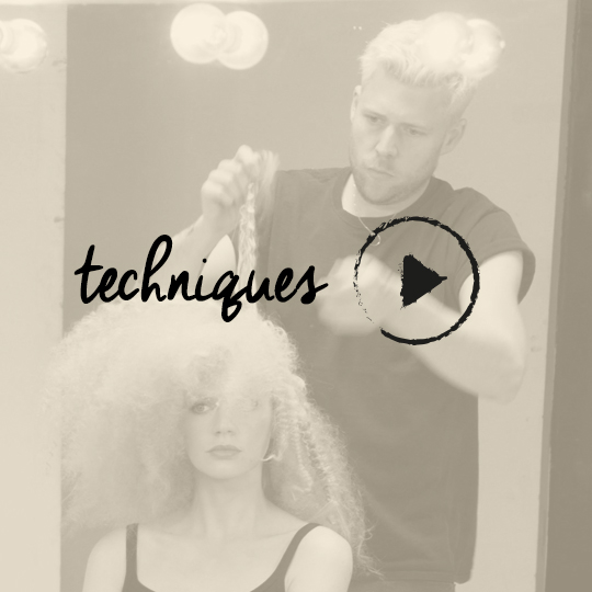 WATCH Sam Burnett create an ultra-textured, frizzy up-do