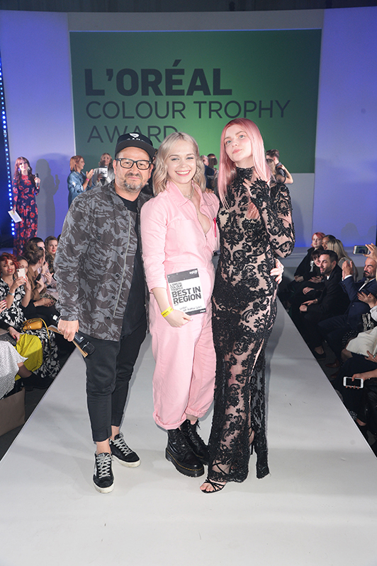 Who made it through from the L'Oréal Colour Trophy 2019 London