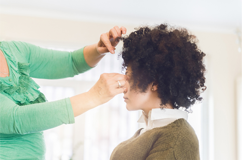 afro textured hair styling