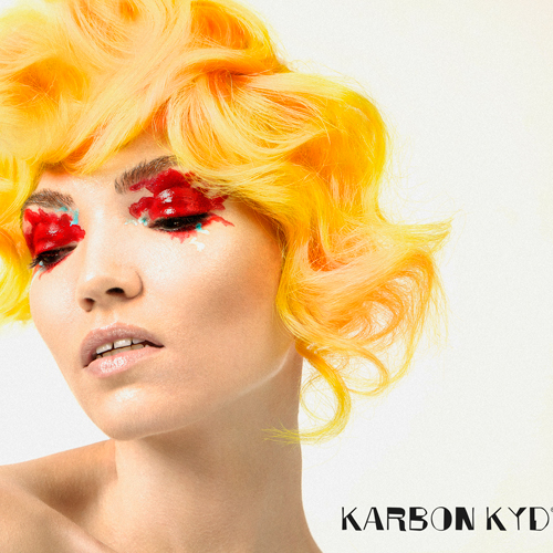 Karbon Kyd yellow coloured hair