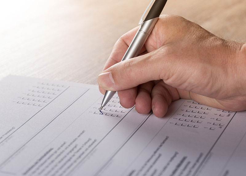 NHBF State of Industry survey 2020 – person filing out a survey form