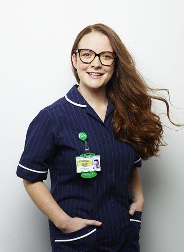 Sarah Adee NHS shoot