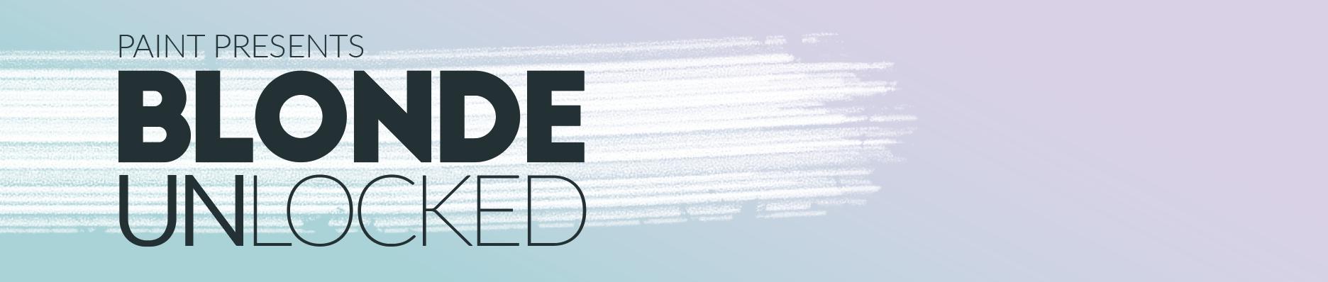 Blonde Unlocked logo header