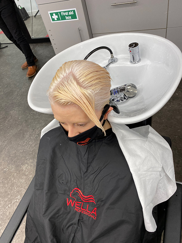 Jayson Gray behind the scenes of Wella Professionals WE Create