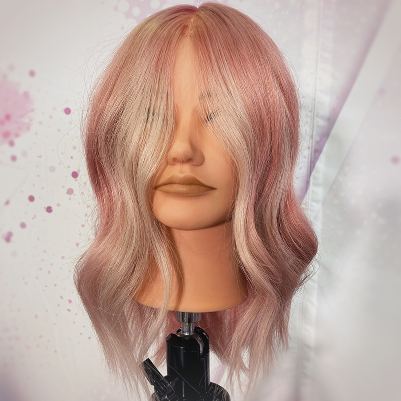 Rose gold blonde by Kara Thomson at Pulp Riot Fest