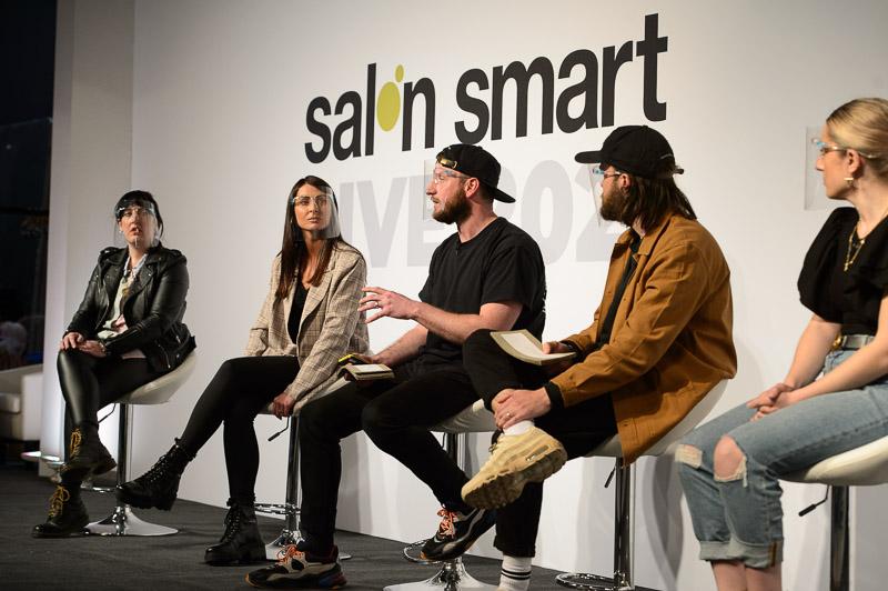 The team from Nashwhite salon on stage at Creative HEAD Magazine's Salon Smart Live 2021