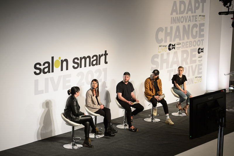 from Nashwhite salon on stage at Creative HEAD Magazine's Salon Smart Live 2021