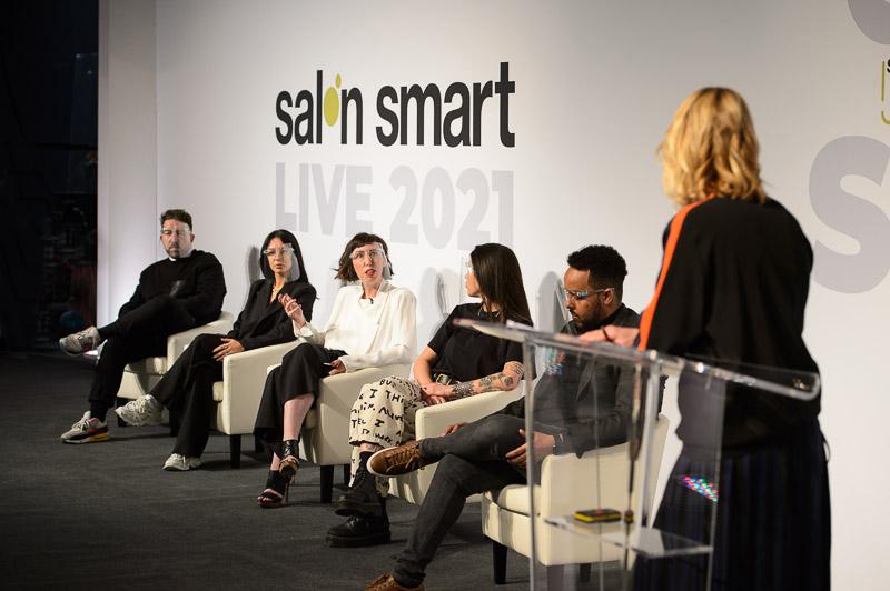 The Digital Debate panel on stage at Creative HEAD Magazine's Salon Smart Live 2021