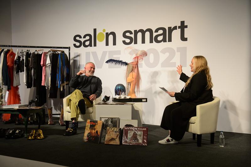 Adam Reed on stage at Creative HEAD Magazine's Salon Smart Live 2021