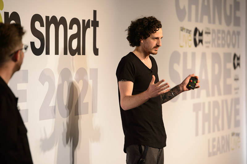Salon 64 owner Ricky Walters on stage at Creative HEAD Magazine's Salon Smart Live 2021