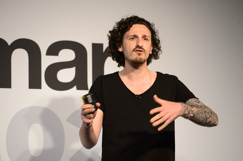 Ricky Walters, owner of Salon 64,on stage at Creative HEAD Magazine's Salon Smart Live 2021