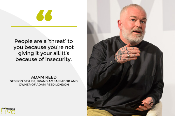 Adam Reed, owner of Adam Reed London, on stage at Salon Smart LIVE 2021