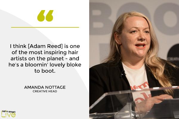 Creative HEAD editor Amanda Nottage on stage at Salon Smart Live