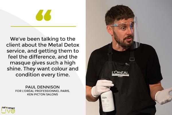 Paul Dennision of Ken Piction Salons, on stage at Salon Smart LIVE 2021