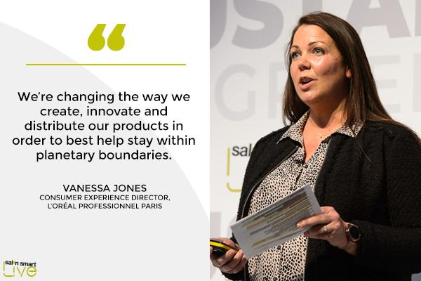 Vanessa Jones, consumer experience director, L'Oréal Professionel Paris, on stage at Salon Smart LIVE 2021