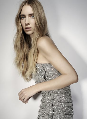 Long dirty-blonde waves, in a centre parting, taken from the 'Freak Out' collection by Pierre Ginsburg