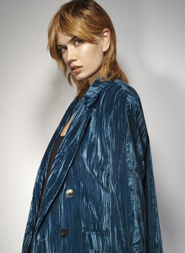 A honey-blonde, choppy-layered shoulder length style, from the 'Freak Out' collection by Pierre Ginsburg