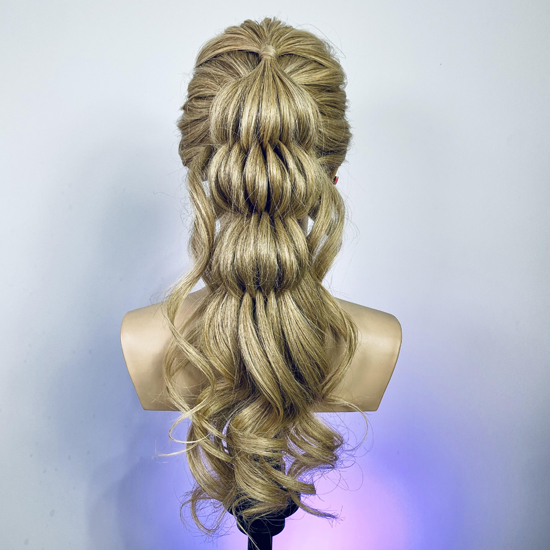 Heads up! Eye-catching up-do hair styling for events