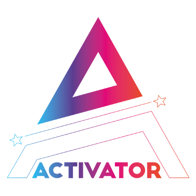The logo for Activator, a free mentoring scheme from Creative HEAD and The Industry