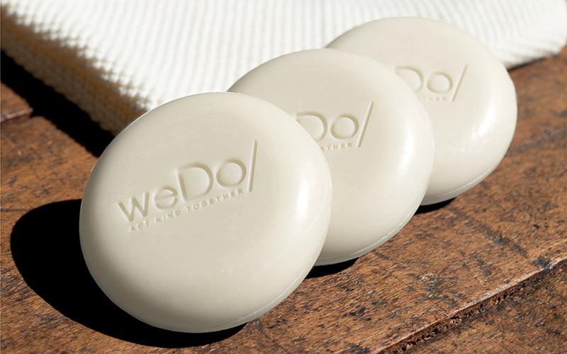 A trio of weDo/ solid shampoo bars