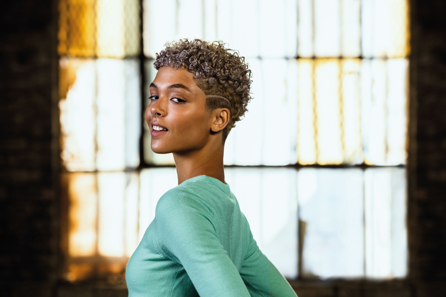 Female model with short hair for Andis