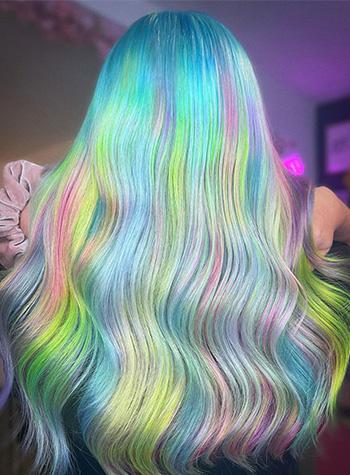 Creative hair colour in pastel shades by Heffy Wheeler